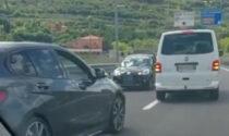 Il video dell'auto contromano in superstrada, tragedia sfiorata a Grezzana