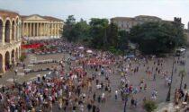 """""""No Green Pass!"""": il video e le foto del corteo di protesta a Verona"""