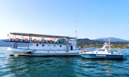 Nave da diporto in avaria sul Lago di Garda con 56 persone a bordo