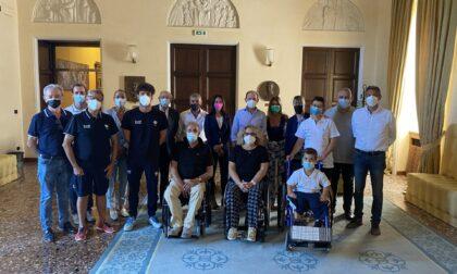 """Verona saluta gli atleti paralimpici in partenza per Tokyo, Zanotto: """"La città fa il tifo per voi"""""""