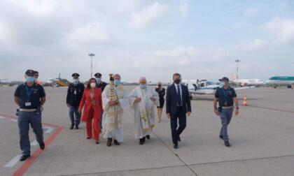 La Madonna di Loreto accolta all'Aeroporto di Verona per il Giubileo Lauretano