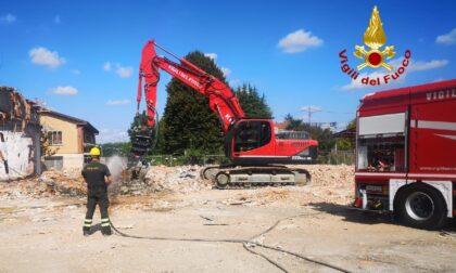 Le foto dell'attività di formazione del personale Vigili del Fuoco movimento terra