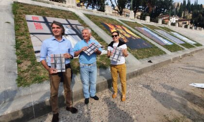 Dante 700: un libro e foto giganti in Lungadige San Giorgio