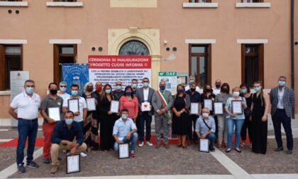Progetto Cuore InForma: inaugurato un defibrillatore davanti al municipio